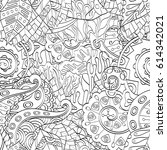 tracery seamless pattern.... | Shutterstock .eps vector #614342021