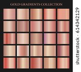 rose gold gradient collection... | Shutterstock .eps vector #614342129