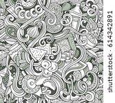 cartoon cute doodles hand drawn ... | Shutterstock .eps vector #614342891