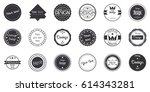 vector set of vintage retro... | Shutterstock .eps vector #614343281