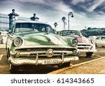 havana  cuba  mar 31  2017  old ... | Shutterstock . vector #614343665