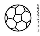 football vector illustration | Shutterstock .eps vector #614344001