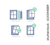 window installation services ... | Shutterstock .eps vector #614344889