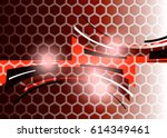red abstract template for card... | Shutterstock . vector #614349461