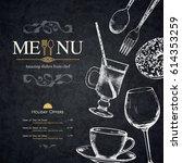 restaurant menu design. vector... | Shutterstock .eps vector #614353259