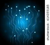 abstract circuit digital... | Shutterstock .eps vector #614355185