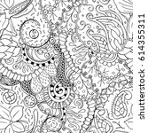tracery seamless pattern.... | Shutterstock .eps vector #614355311