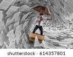 navigate the storm of... | Shutterstock . vector #614357801