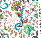 seamless pattern with fantasy... | Shutterstock .eps vector #614363015