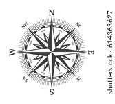 wind rose vector illustration.... | Shutterstock .eps vector #614363627