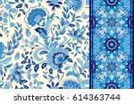 seamless floral patterns set....