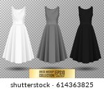 women's dress mockup collection.... | Shutterstock .eps vector #614363825