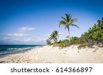 grace bay turks and caicos... | Shutterstock . vector #614366897