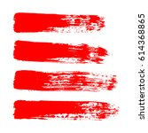 painted grunge stripes set. red ... | Shutterstock .eps vector #614368865