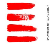 painted grunge stripes set. red ... | Shutterstock .eps vector #614368874