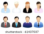 set of business people icons ... | Shutterstock . vector #61437037