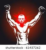 boxing poster   Shutterstock .eps vector #61437262