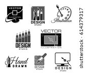 design studio template icons... | Shutterstock .eps vector #614379317