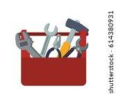 toolbox carpentry portable | Shutterstock .eps vector #614380931