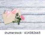 Rose Flowers On Background Of...