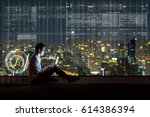asian businessman sitting and...