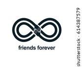 friends forever  everlasting... | Shutterstock .eps vector #614387579
