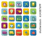 transportation color icons with ... | Shutterstock .eps vector #614387699