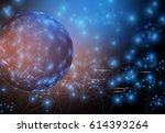 cyber space of social network... | Shutterstock . vector #614393264