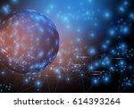 global world floating network | Shutterstock . vector #614393264