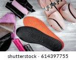 cobbler tools in workshop on