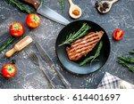 Restaurant Kitchen With Steak...