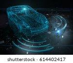 autonomous self drive vehicle   ... | Shutterstock . vector #614402417