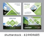 set of presentation layout... | Shutterstock .eps vector #614404685