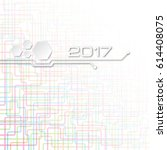 abstract technology vector... | Shutterstock .eps vector #614408075