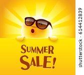 summer sale  summer sun with...   Shutterstock .eps vector #614412839