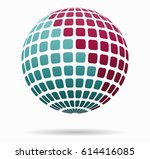 icon sphere with squares | Shutterstock .eps vector #614416085