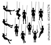 Women Silhouettes Swinging On...