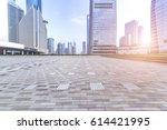 empty floor with modern...   Shutterstock . vector #614421995