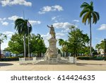 Small photo of Statue of Jose Marti in the Jose Marti Park, the main square of Cienfuegos (UNESCO World Heritage), Cuba.