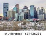 calgary downtown in winter ...   Shutterstock . vector #614426291