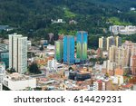 view of the downtown bogota  ... | Shutterstock . vector #614429231
