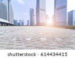 empty floor with modern...   Shutterstock . vector #614434415