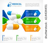 medical pill infographic with... | Shutterstock .eps vector #614434451