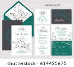 template rustic wedding... | Shutterstock .eps vector #614435675