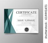 certificate premium template... | Shutterstock .eps vector #614441651