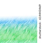 blue green grass illustration ... | Shutterstock .eps vector #614443469