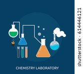 chemistry laboratory conceptual ... | Shutterstock .eps vector #614446121