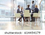 team of contemporary young co... | Shutterstock . vector #614454179