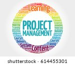project management circle word... | Shutterstock . vector #614455301