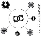 flat icon of money vector icon | Shutterstock .eps vector #614456135